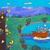 花を運ぶ舟